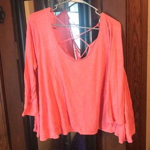 AEO crop top with open back